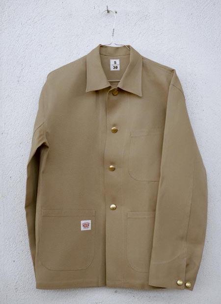 Veste de travail beige de la marque Kidur