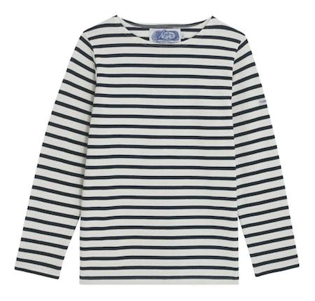 Breton Shirt Company - Marinière rayures noires