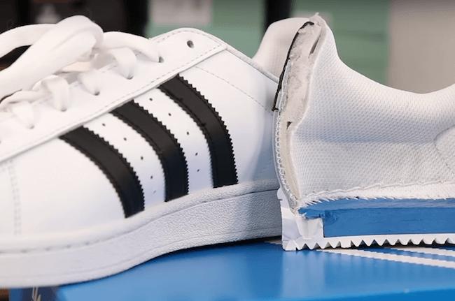Tige d'une sneaker Adidas Superstar