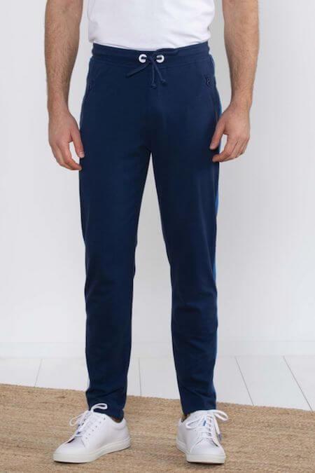 Jogpant bleu marine pour homme