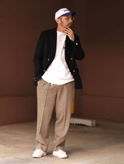 T-shirt blanc oversize - Look homme