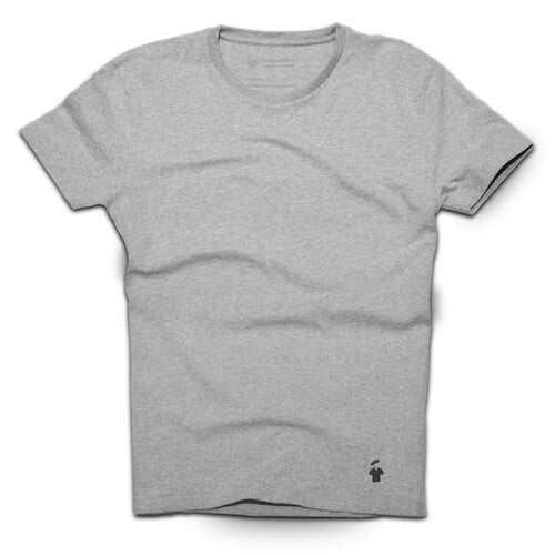 T-shirt gris chiné pour homme - GoudronBlanc