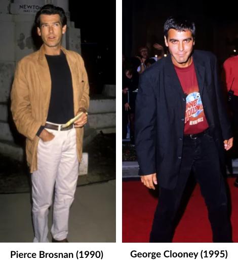 T-shirt oversize rentré dans le pantalon - Style des années 90