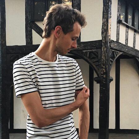 T-shirt épais marinière - GoudronBlanc