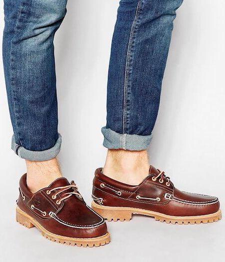 Chaussures bateau avec semelle épaisse - Marque Timberland