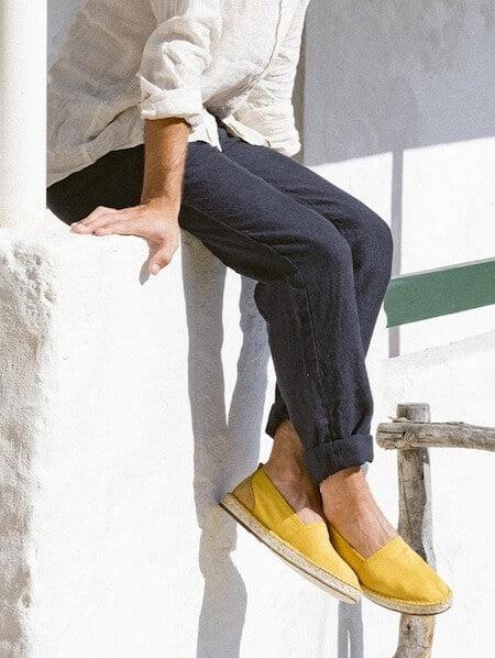 Espadrilles jaunes pour homme - Marque Escadrille