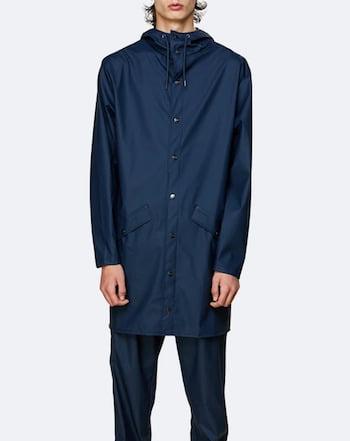 Manteau imperméable bleu de la marque Rains