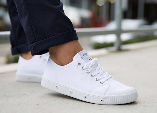 Sneakers blanches en toile - Marque Springcourt