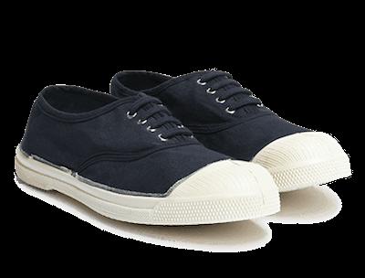 Sneakers en toile bleu marine - Marque Bensimon
