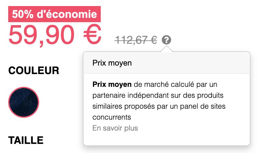 Prix d'un jean made in France de la marque Cocorico