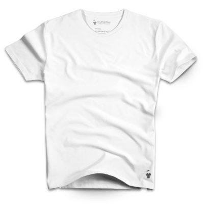 T-shirt blanc col rond - GoudronBlanc