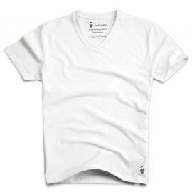 T-shirt col V blanc pour homme