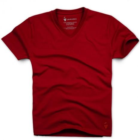 T-shirt rouge col V pour homme