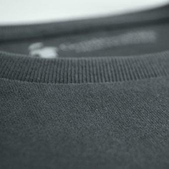 T-shirt gris anthracite en coton bio