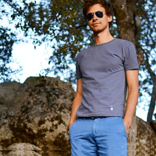T-shirt gris anthracite - Guerric de Ternay
