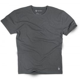 T-shirt gris anthracite col rond