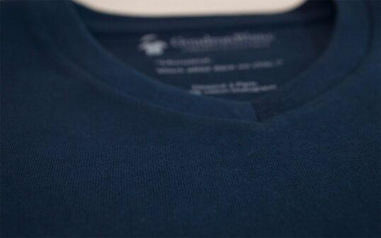 Tissu en jersey bleu