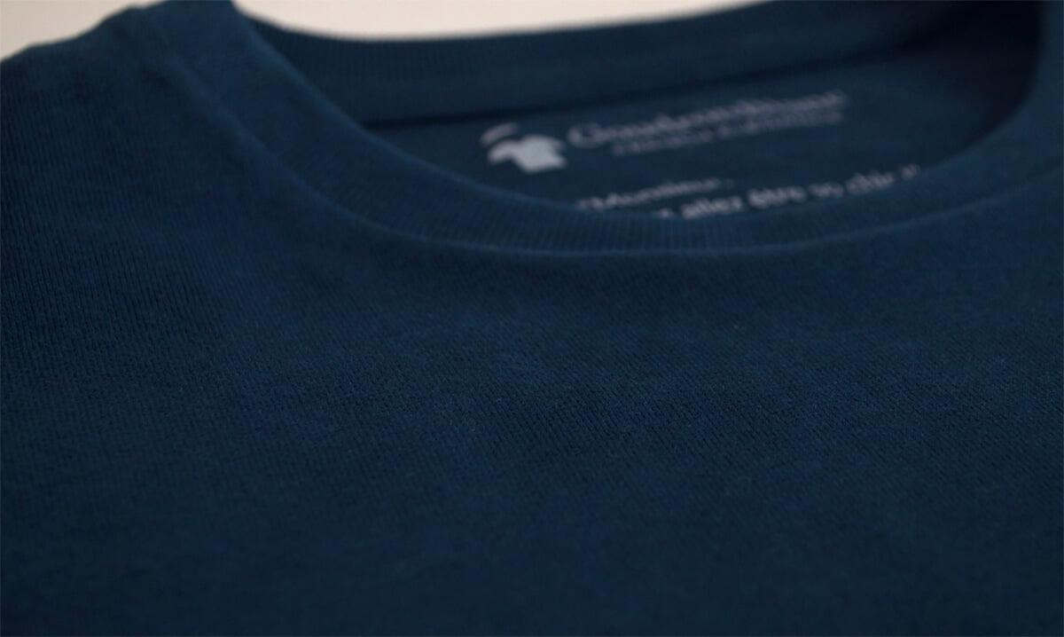 Coton bio du T-shirt bleu minéral