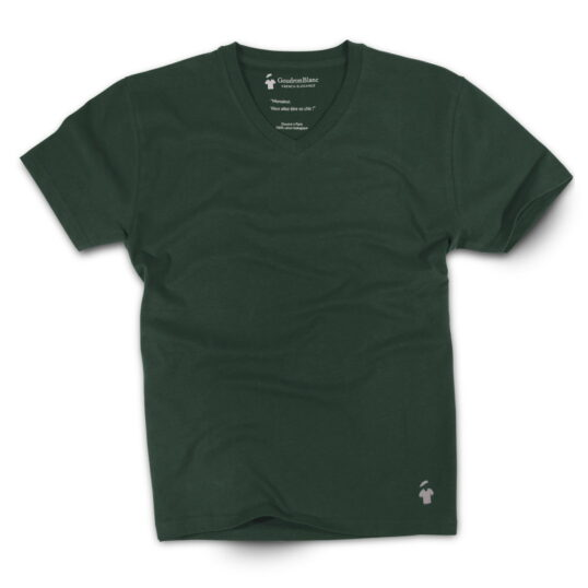 T-shirt col V vert pour homme