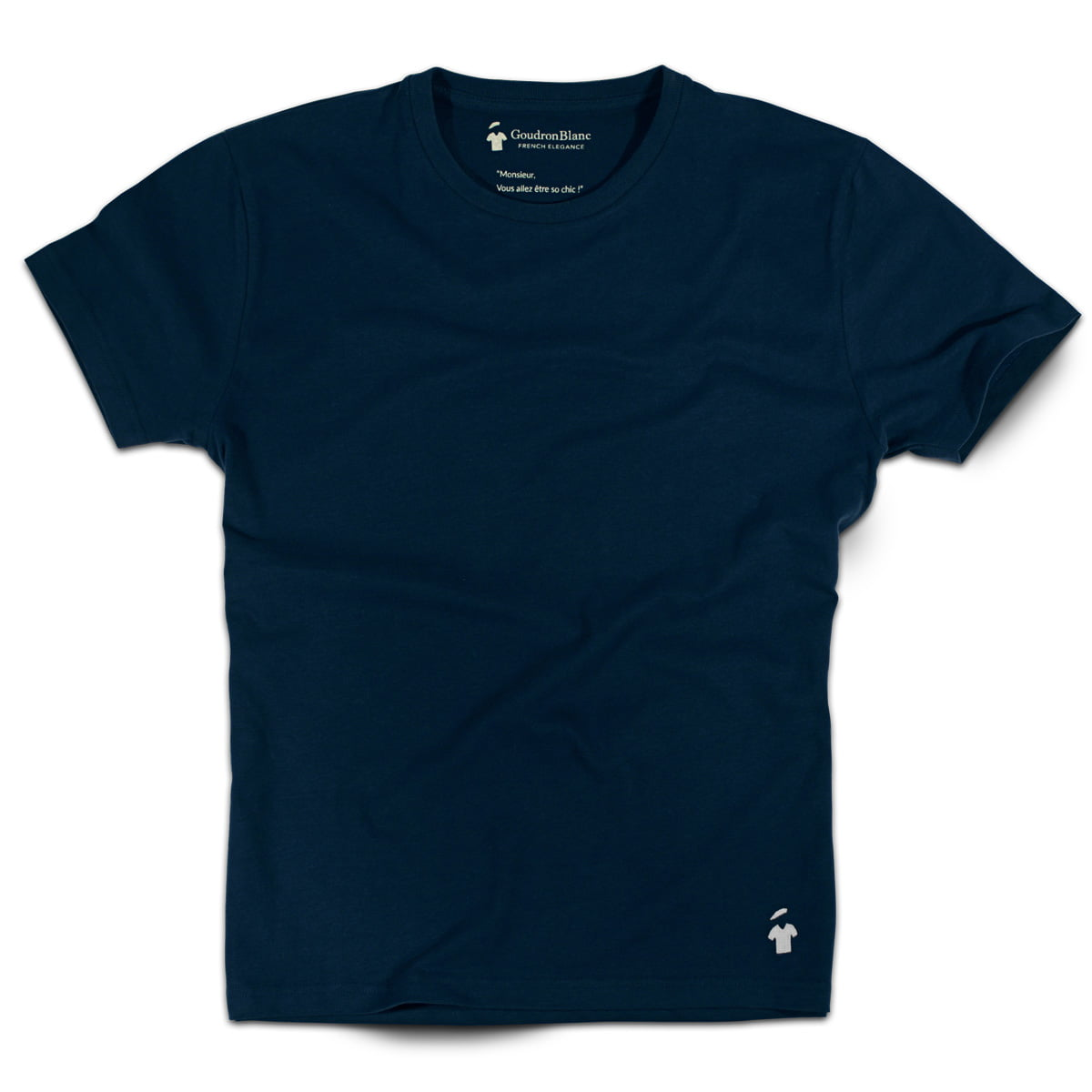t shirt bleu marine de qualit pour homme goudronblanc. Black Bedroom Furniture Sets. Home Design Ideas