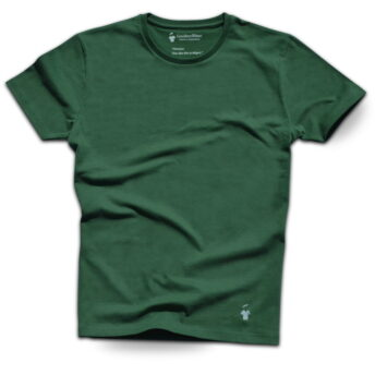T-shirt vert arolle col rond pour homme