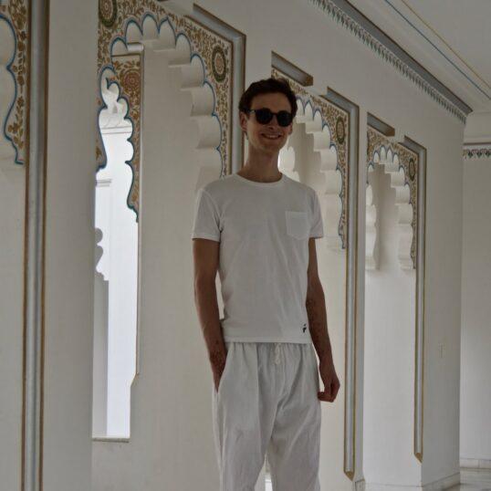 T-shirt à poche blanc pour homme (Inde)
