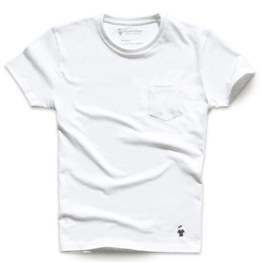 T-shirt à poche blanc pour homme