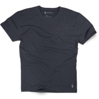 T-shirt gris ardoise col rond pour homme