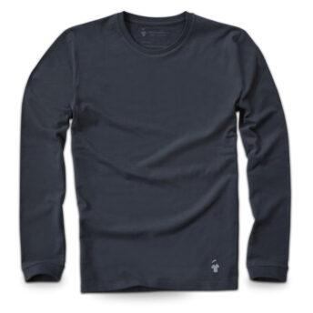 T-shirt manches longues pour homme gris ardoise