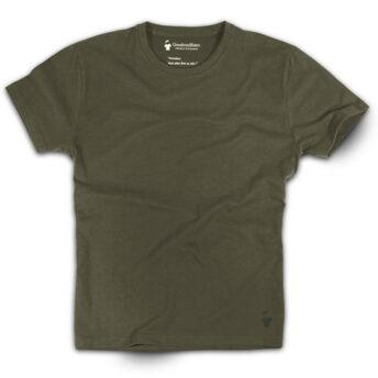 T-shirt kaki aviateur col rond
