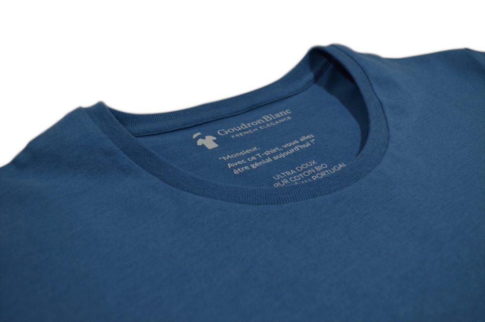 Col rond bleu indigo - GoudronBlanc