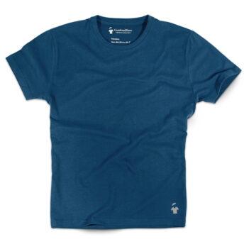 T-shirt bleu indigo col rond pour homme
