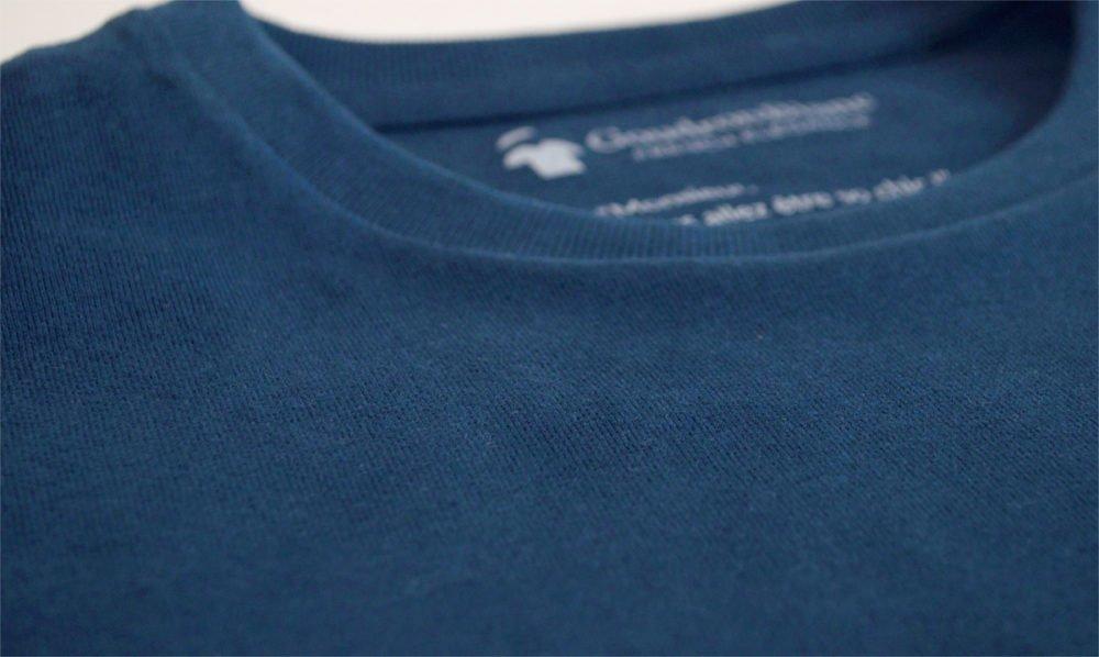 Tissu en coton bio - T-shirt GoudronBlanc