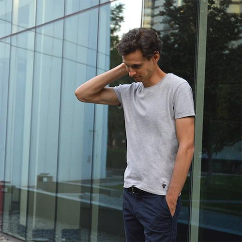 T-shirt gris chiné homme - Guerric de Ternay