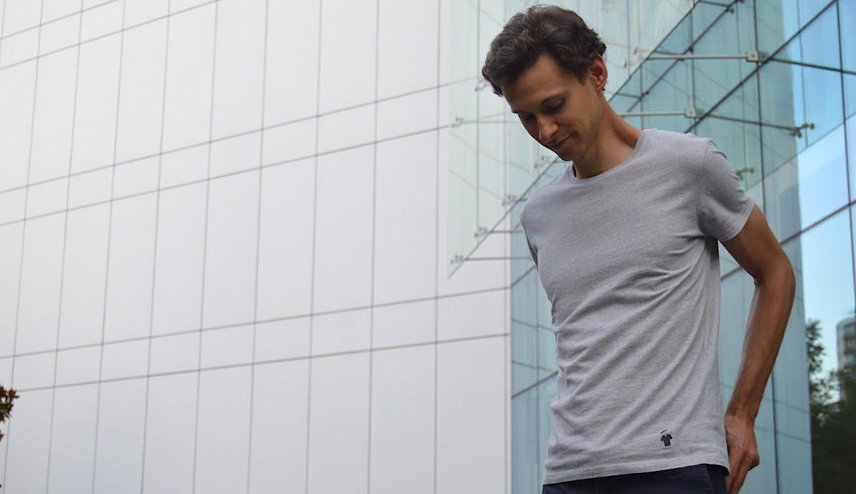 T-shirt homme gris chiné