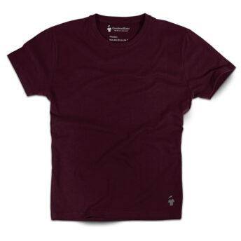 T-shirt rouge bourgogne pour homme