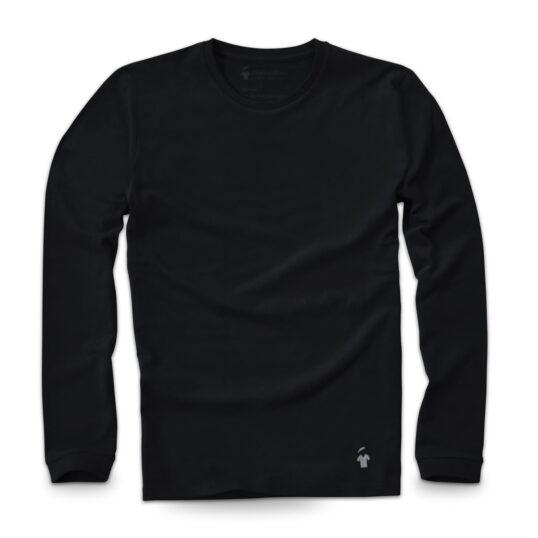 T-shirt noir manches longues - GoudronBlanc