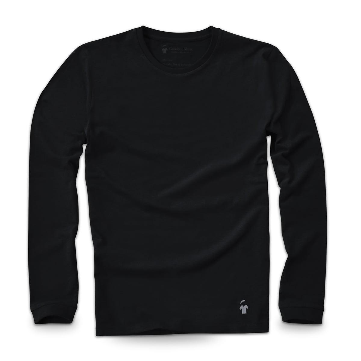 T-shirt manches longues noir carbone - Haute qualité - GoudronBlanc dbe5927b581