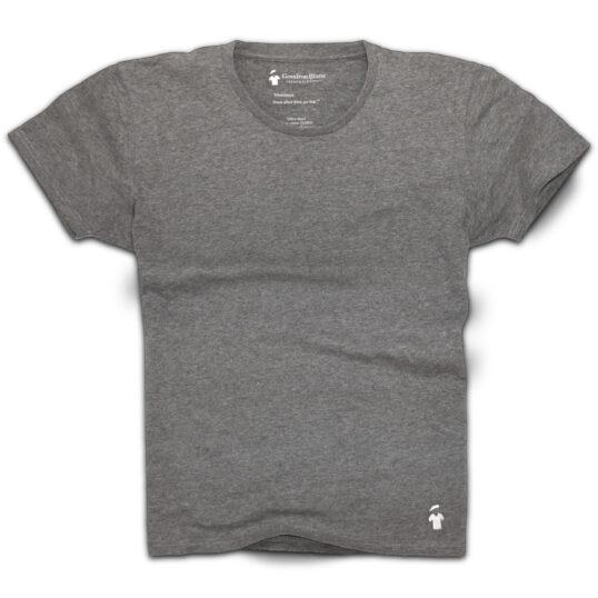T-shirt gris béton chiné col rond - GoudronBlanc