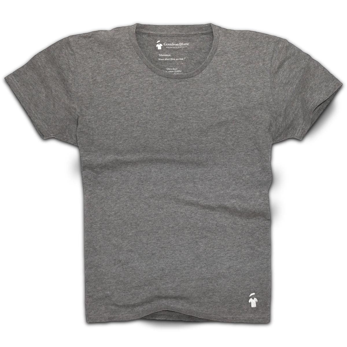 Tshirt Col Rond Homme T-shirt Gris Coton shirt Homme Tshirt