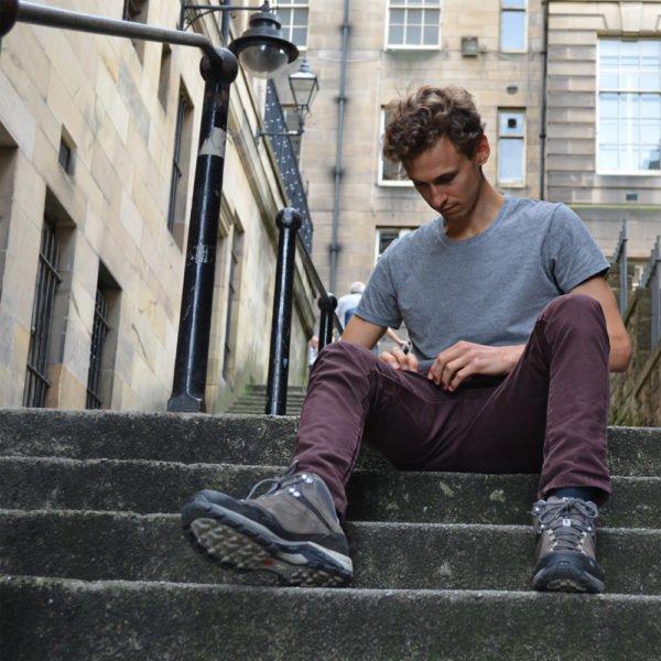 T-shirt gris chiné - Look homme - GoudronBlanc