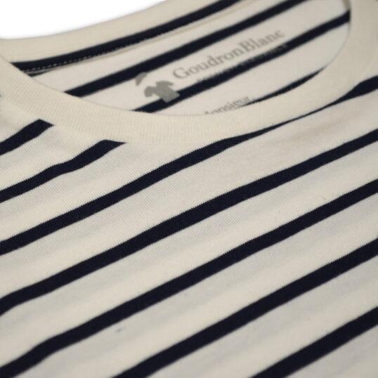 Tissu coton bio - T-shirt marinière homme - GoudronBlanc