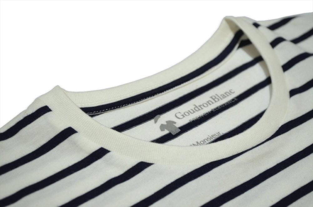 Col du T-shirt marinière - GoudronBlanc