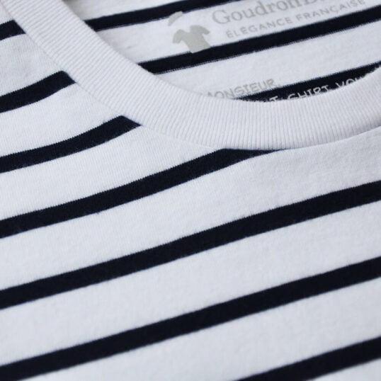 Tissu rayures - T-shirt marinière GoudronBlanc