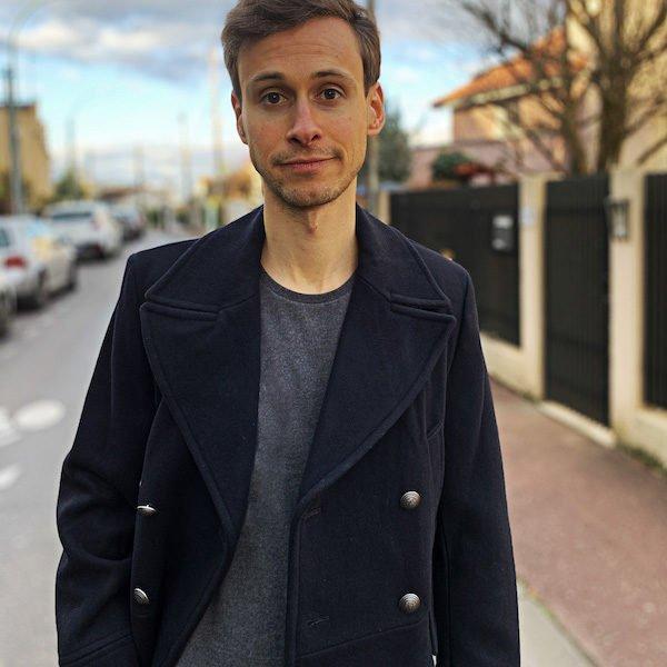T-shirt gris homme - GoudronBlanc