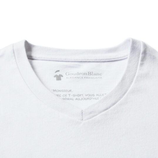 Zoom - T-shirt col V blanc