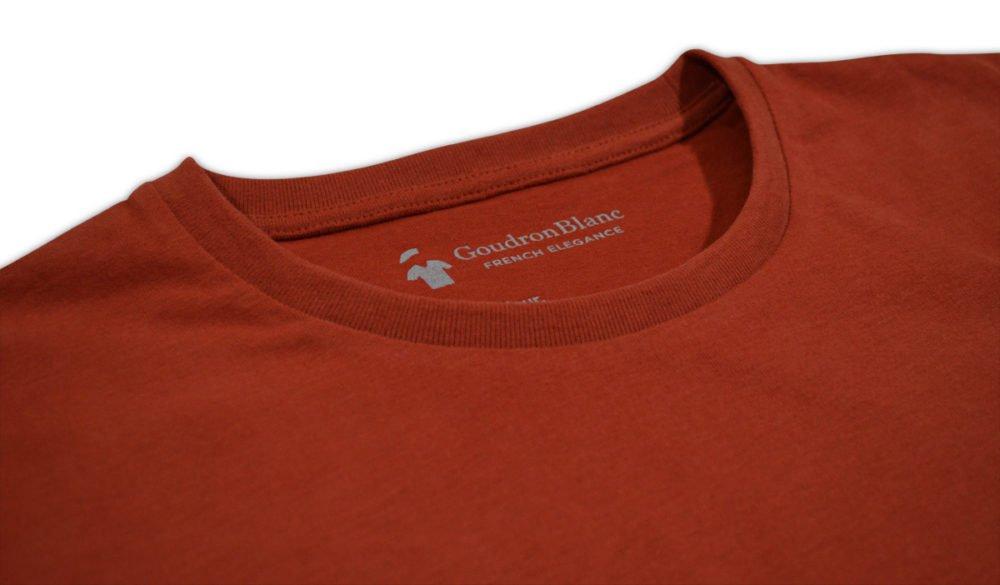 Col rond - T-shirt rouille - GoudronBlanc