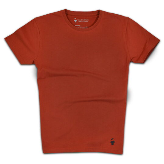 T-shirt rouille col rond - GoudronBlanc