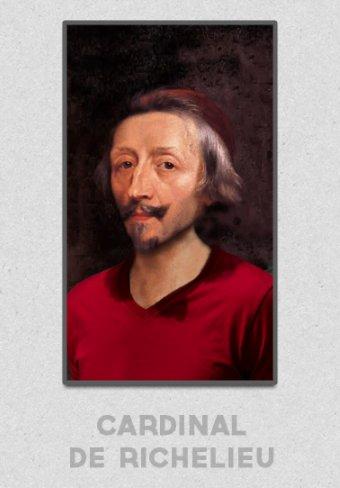 Le Cardinal de Richelieu portant un T-shirt GoudronBlanc