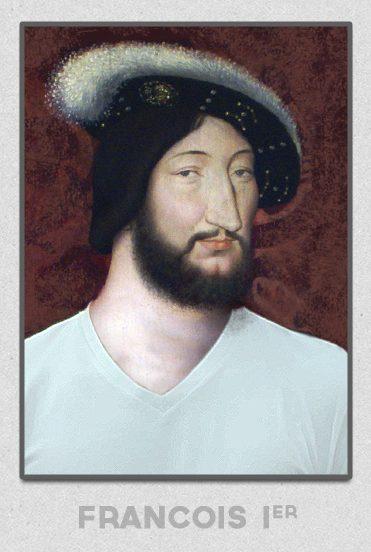 Le roi François Ier portant un T-shirt GoudronBlanc
